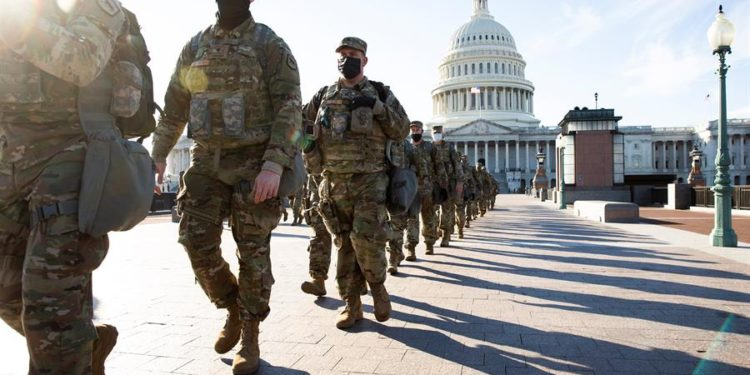 Between 150 and 200 National Guardsmen have tested positive for the coronavirus since Joe Biden's inauguration (EFE).