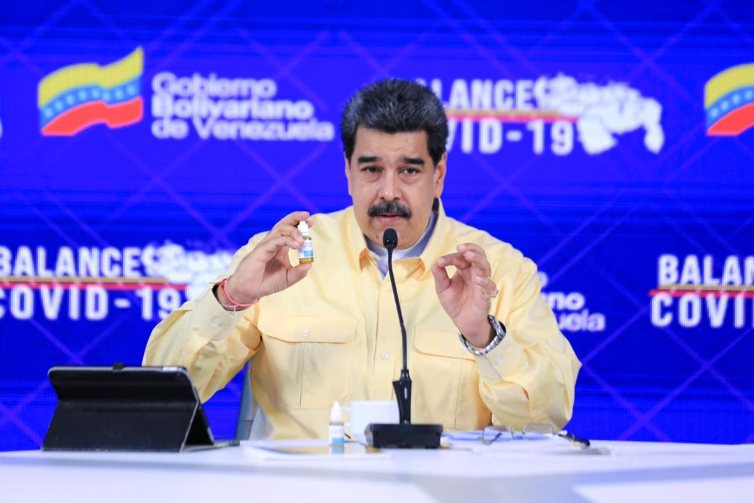 """Maduro's """"Miracle Drops"""" Against COVID-19 Pass Twitter's Filter"""